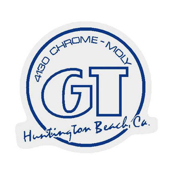 Gt - Huntington Beach Blue On Clear Decal Old School Bmx
