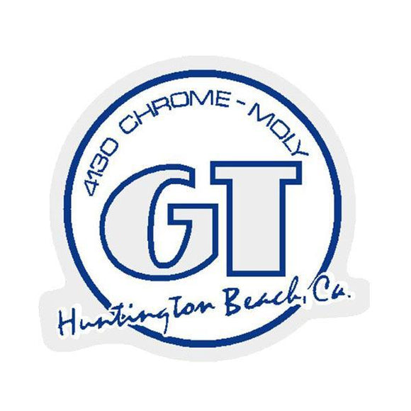 Gt - Huntington Beach Blue With White Infill Decal Old School Bmx
