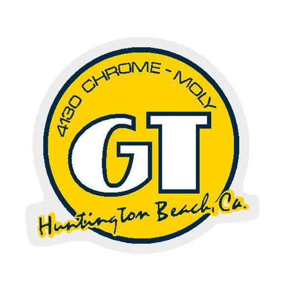 Gt - Huntington Beach Yellow Decal Old School Bmx