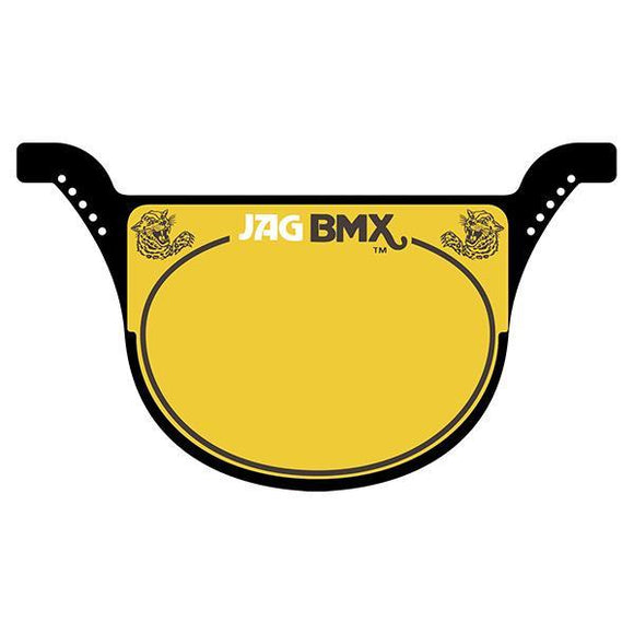 Jag Race Plate Black - Old School Bmx
