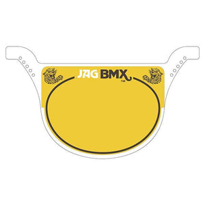Jag Race Plate White - Old School Bmx