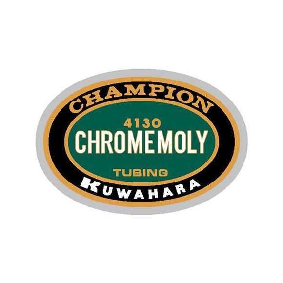 Kuwahara - Champion Cromo Tubing Green Oval Fork Decal Old School Bmx