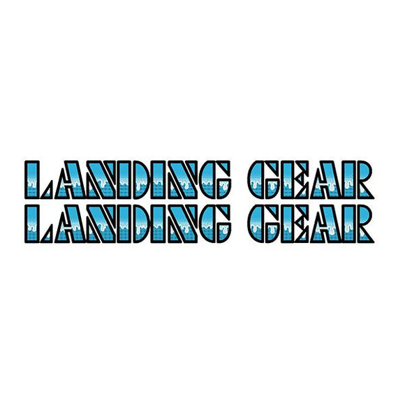SE Racing Landing Gear Drippy Font decals - BLUE