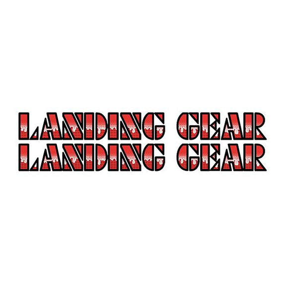 SE Racing Landing Gear Drippy Font decals - RED
