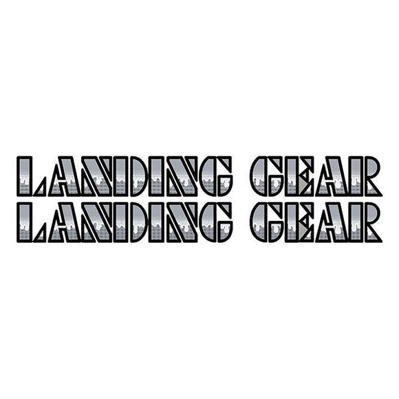 SE Racing Landing Gear Drippy Font decals - BLACK/SILVER