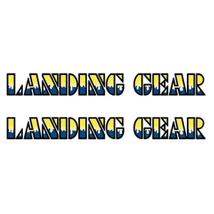 SE Racing Landing Gear Drippy Font decals - YELLOW/BLUE/BLACK