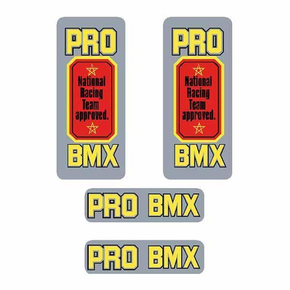 Tange - National Pro Bmx Decal Set Old School Bmx Decal-Set