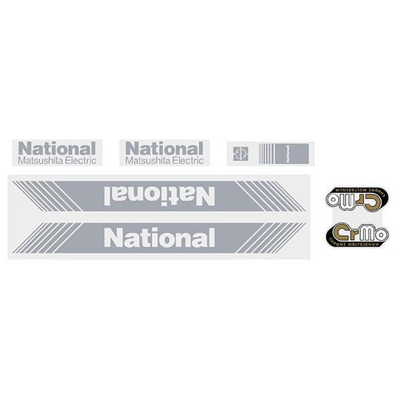 Tange - National Matsushita Silver Decal Set Old School Bmx Decal-Set
