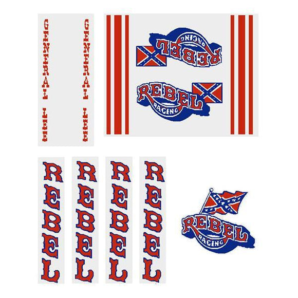 Rebel Racing - Gen 1 General Lee On Clear Decal Set Old School Bmx Decal-Set