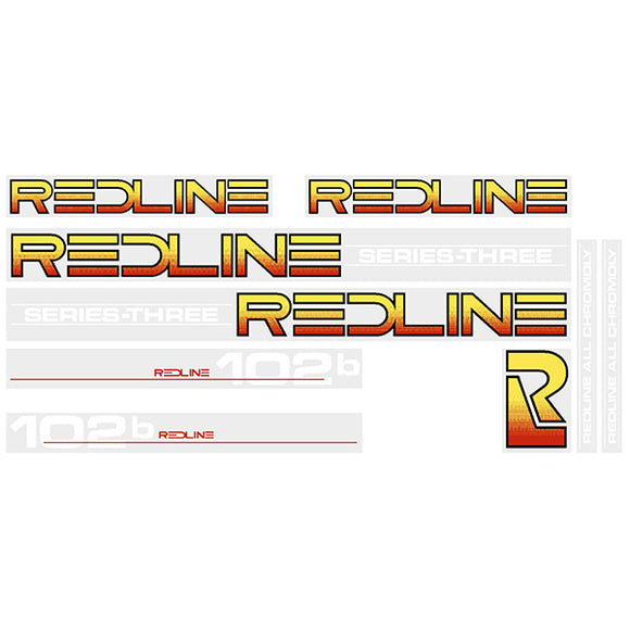 Redline 102B Series-Three (WHITE) decal set
