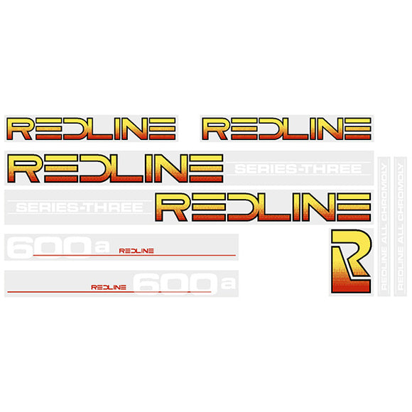 Redline 600A Series-Three (WHITE) decal set