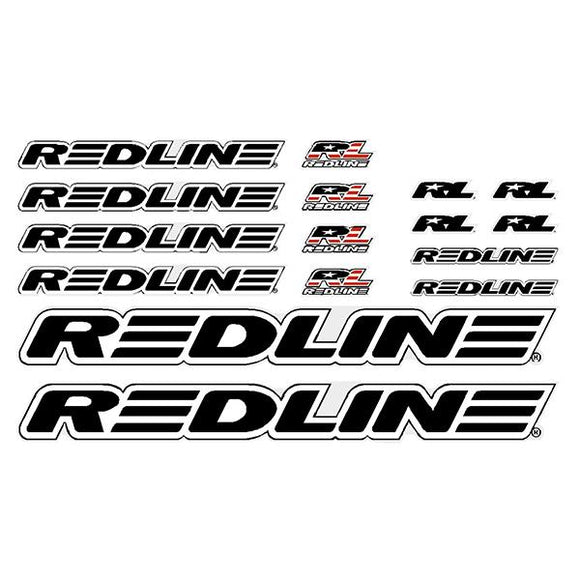 Redline - Generic Black BMX decal set