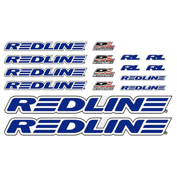 Redline - Generic Blue BMX decal set