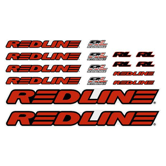 Redline - Generic Red BMX decal set