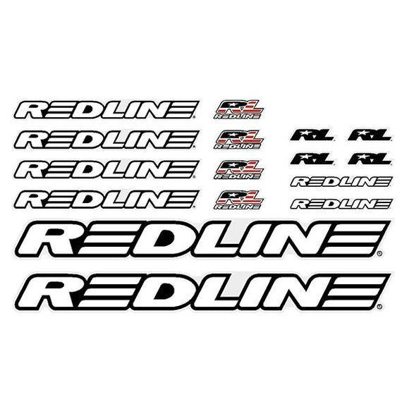 Redline - Generic White BMX decal set