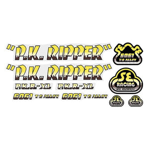 P.K. Ripper Decal set - Drippy Font - Yellow/Brown
