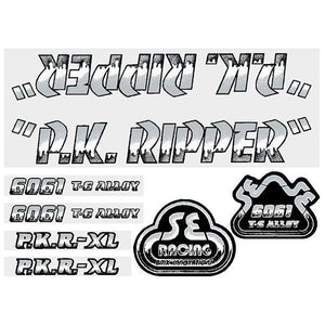 P.K. Ripper Decal set - Drippy Font - Black/Silver