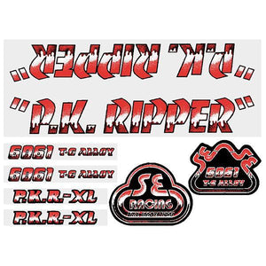 P.K. Ripper Decal set - Drippy Font - Red