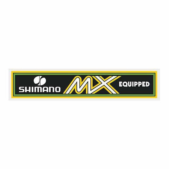 Shimano Mx White Decal - Old School Bmx