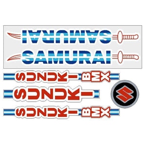 Suzuki - Samurai Bmx Decal Set Old School Decal-Set