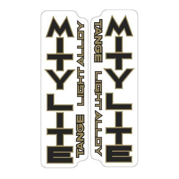 Tange Mitylite Black/gold Fork Decal Set - Old School Bmx