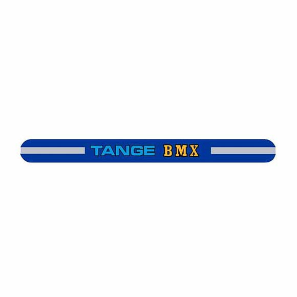 Tange - Bmx Blue Seat Clamp Decal Old School Bmx
