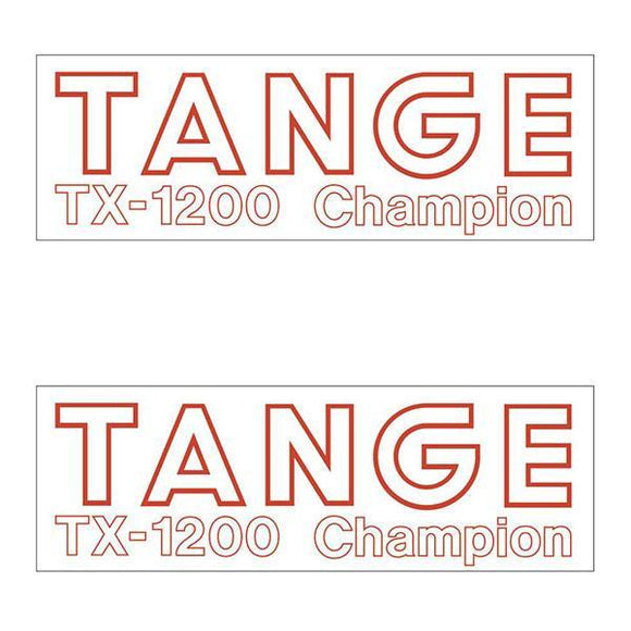 Tange Tx1200 Red Fork Decal Set - Old School Bmx
