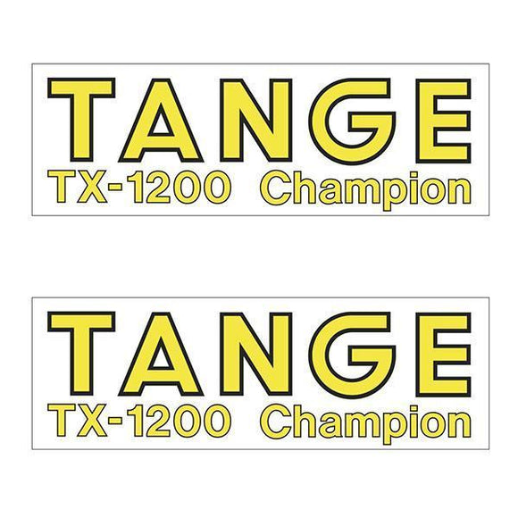 Tange Tx1200 Yellow Fork Decal Set - Old School Bmx