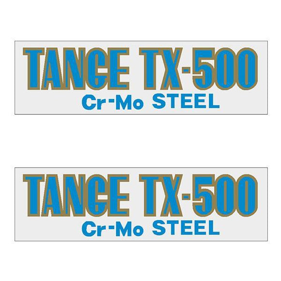 Tange Tx500 Light Blue Early Fork Decal Set - Old School Bmx
