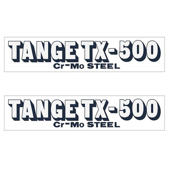 Tange Tx500 Navy Early Fork Decal Set - Old School Bmx