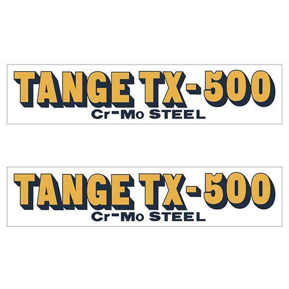 Tange Tx500 Orange Early Fork Decal Set - Old School Bmx