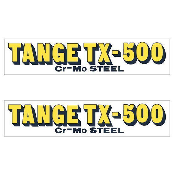 Tange Tx500 Yellow Early Fork Decal Set - Old School Bmx
