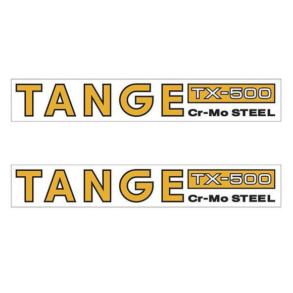 Tange Tx500 Cromo Orange Fork Decal Set - Old School Bmx