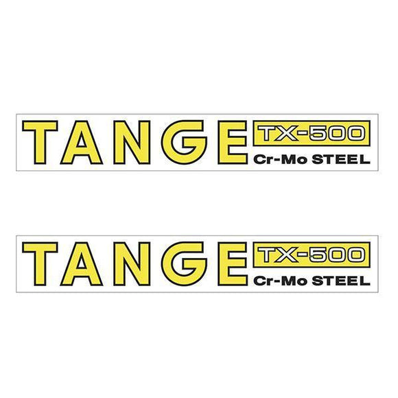 Tange Tx500 Cromo Yellow Fork Decal Set - Old School Bmx