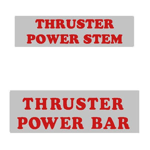 Thruster - Bar And Stem Red Decals On Chrome Old School Bmx Decal