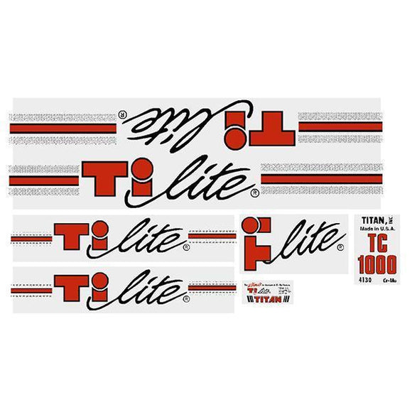 Titan - Ti-Lite Tc1000 Black Old School Bmx Decal-Set