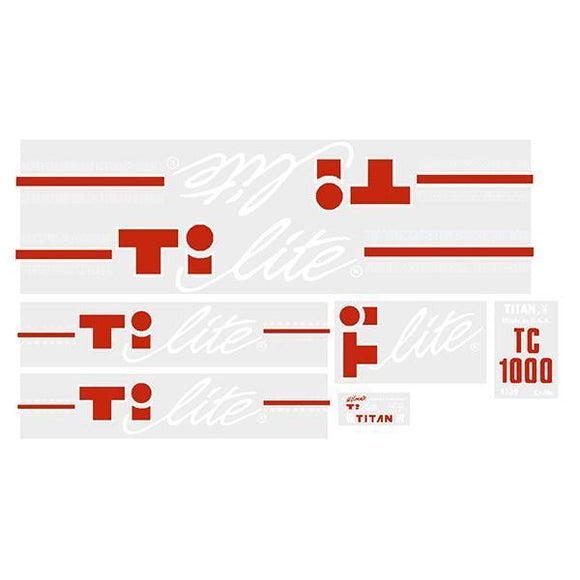 Titan - Ti-Lite Tc1000 White Old School Bmx Decal-Set
