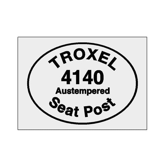 Troxel - 4140 Seat Pole Decal Old School Bmx