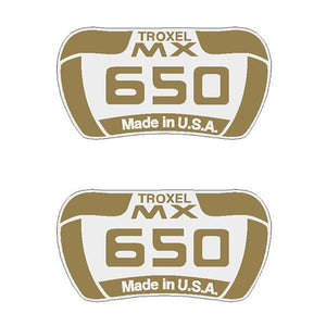 Troxel - Mx 650 Side Seat Decals Old School Bmx Decal