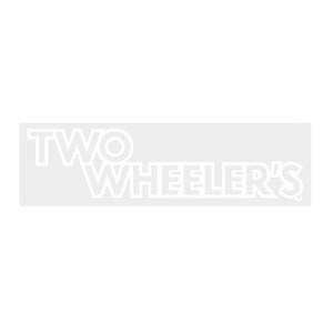 Two Wheelers - Bar Decal White Old School Bmx