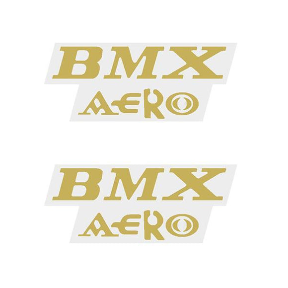 Viscount - Bmx Aero Gold Seat Decal Set Old School Bmx
