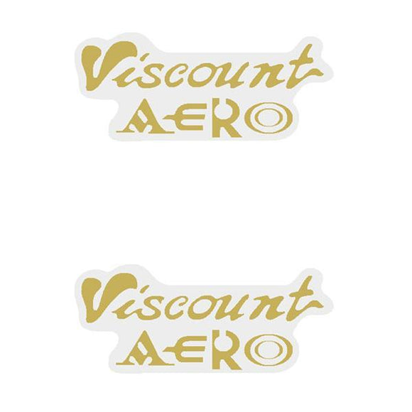Viscount - Aero Gold Seat Decal Set Old School Bmx