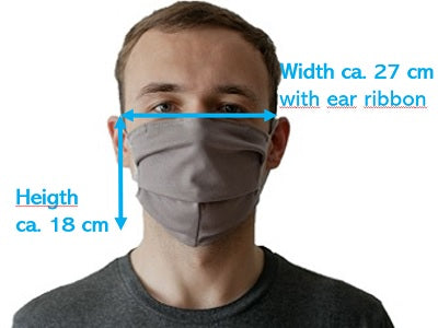 Man with grey mask