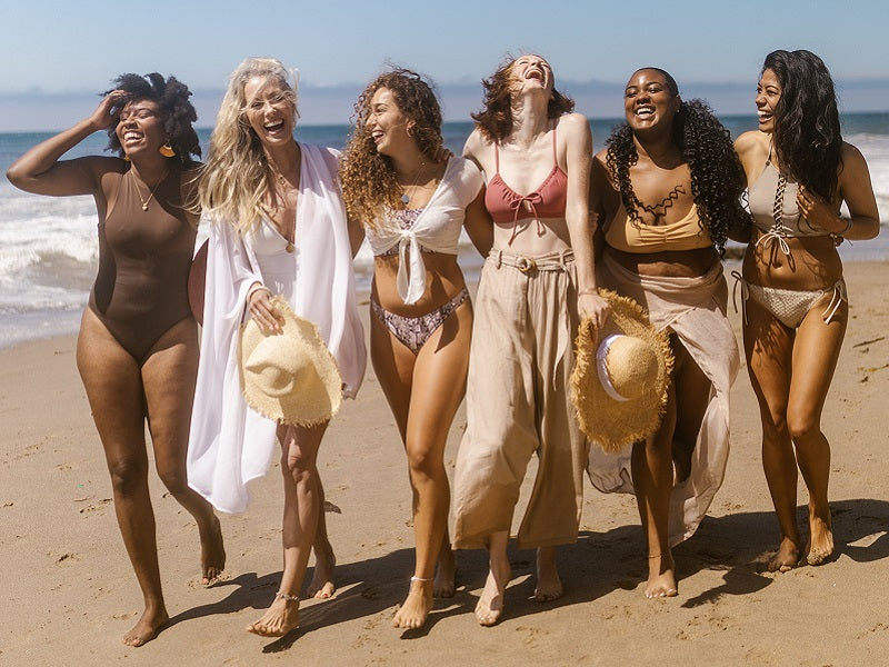 Group of woman at the beach