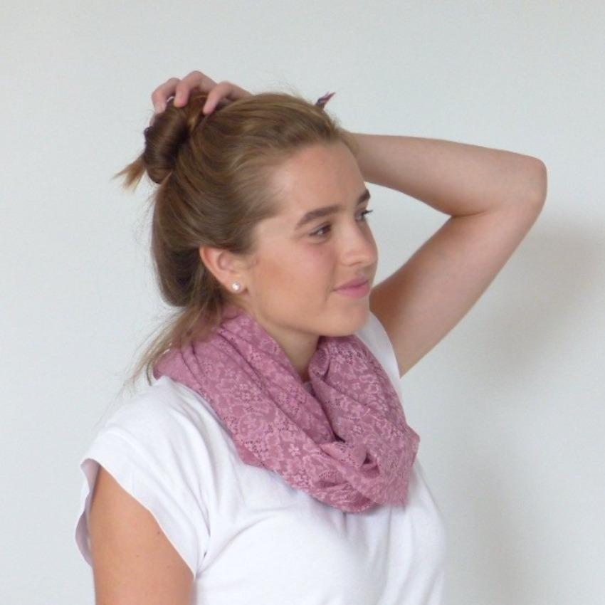 Chanty Lace Scarf | Structured Sunflowers | Mesa Rose | One Size