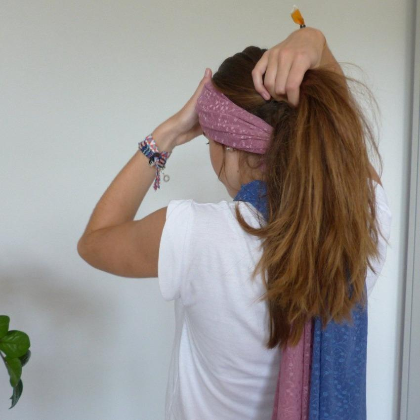 Scarf | Plaited Teardrop Roots  | Mesa Rose | One Size