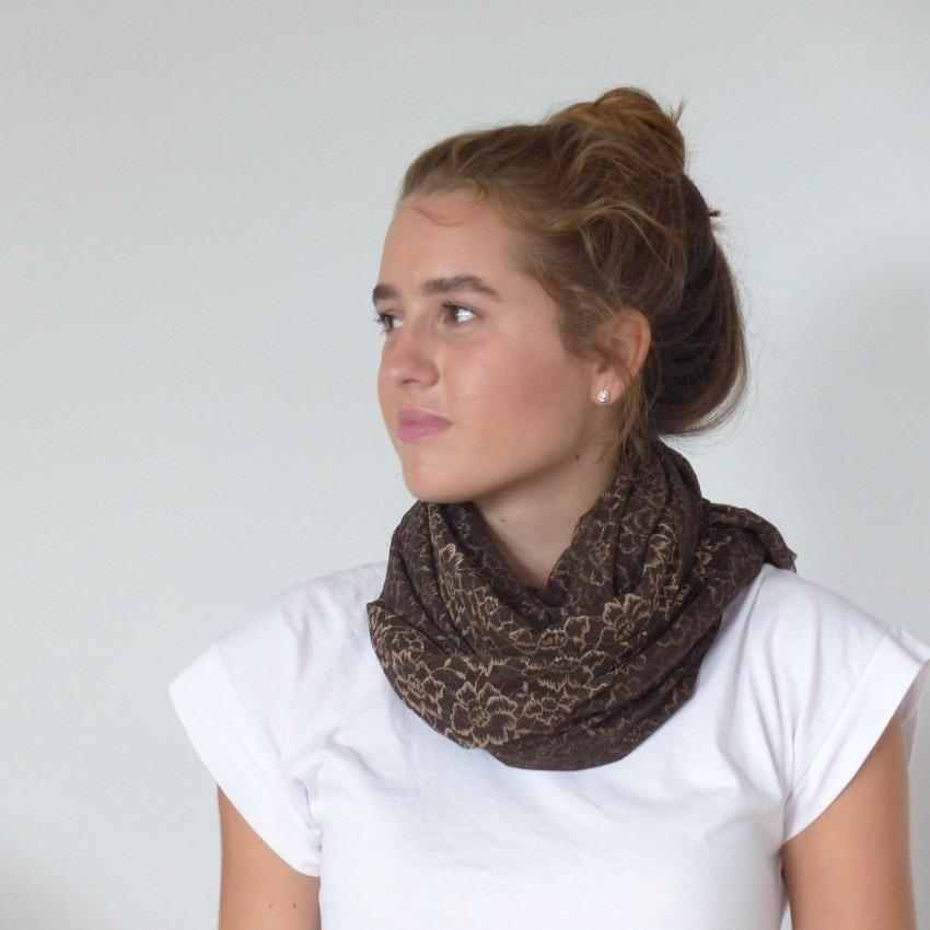 Scarf | Jagged Petals | Choco | One Size