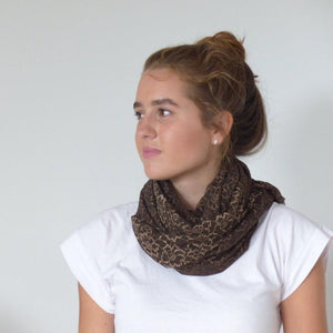 Chanty Lace Scarf | Jagged Petals | Choco | One Size