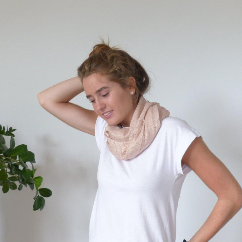 Chanty Lace Scarf | Pebble Stones | Light Rose | One Size