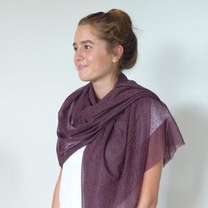Scarf | Dainty Cobwebs | Purple | One Size